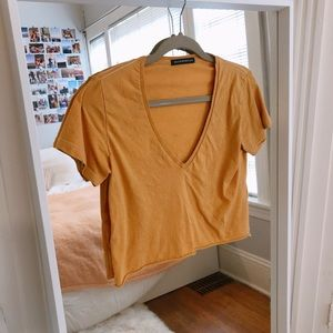 Brandy yellow cropped tee